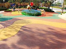 彩色生態洗砂透水藝術路面