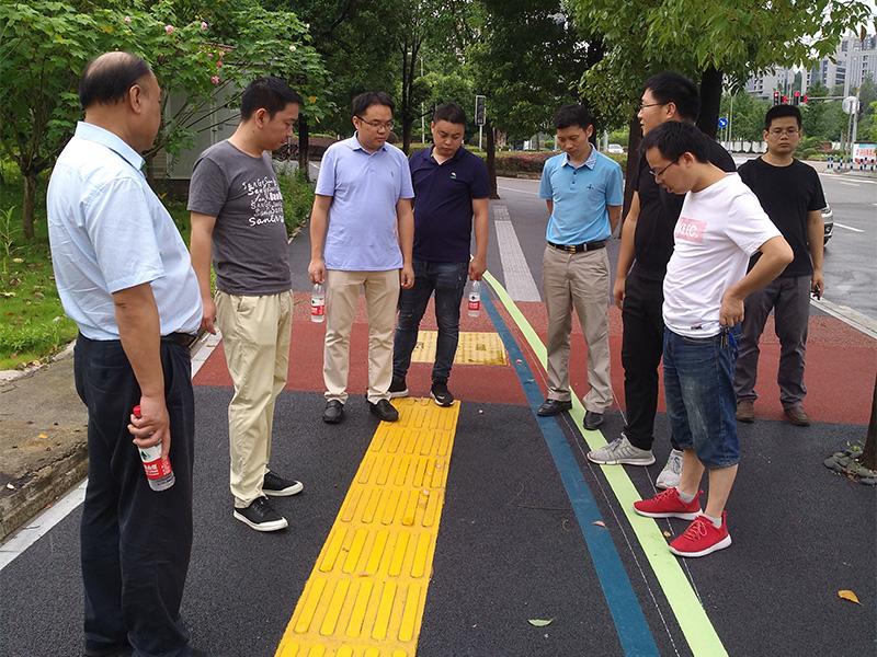 重慶市九龍坡交通局鄒局長一行考察兩江新區綠道