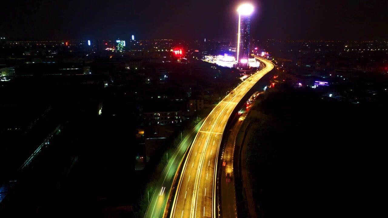 大良南国路快速化夜景