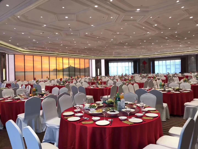 君芝友酒店專用桌布大圓桌餐桌臺布餐廳飯店圓形宴會臺布布藝 實拍圖