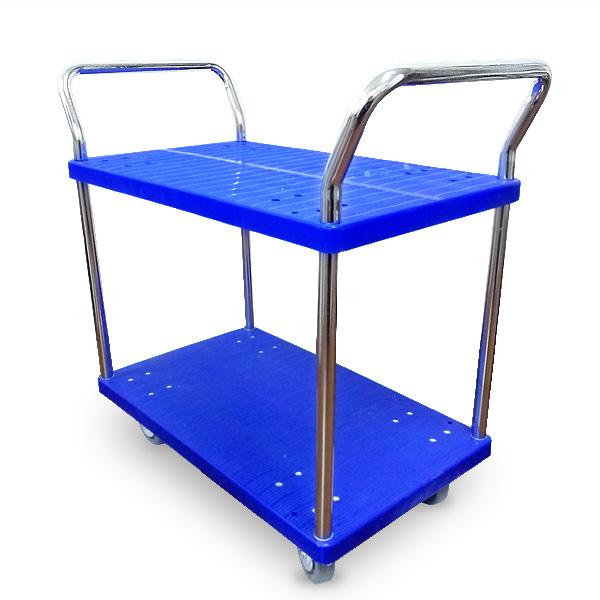 靜音尼龍餐車(小號)雙層雙扶手FX-2006-4D