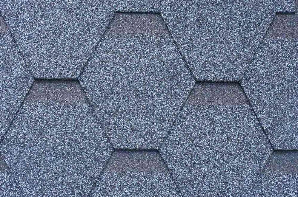六角形彩色玻纖胎瀝青瓦