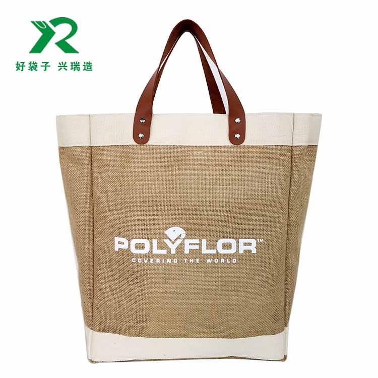 時尚大容量麻布購物袋定制