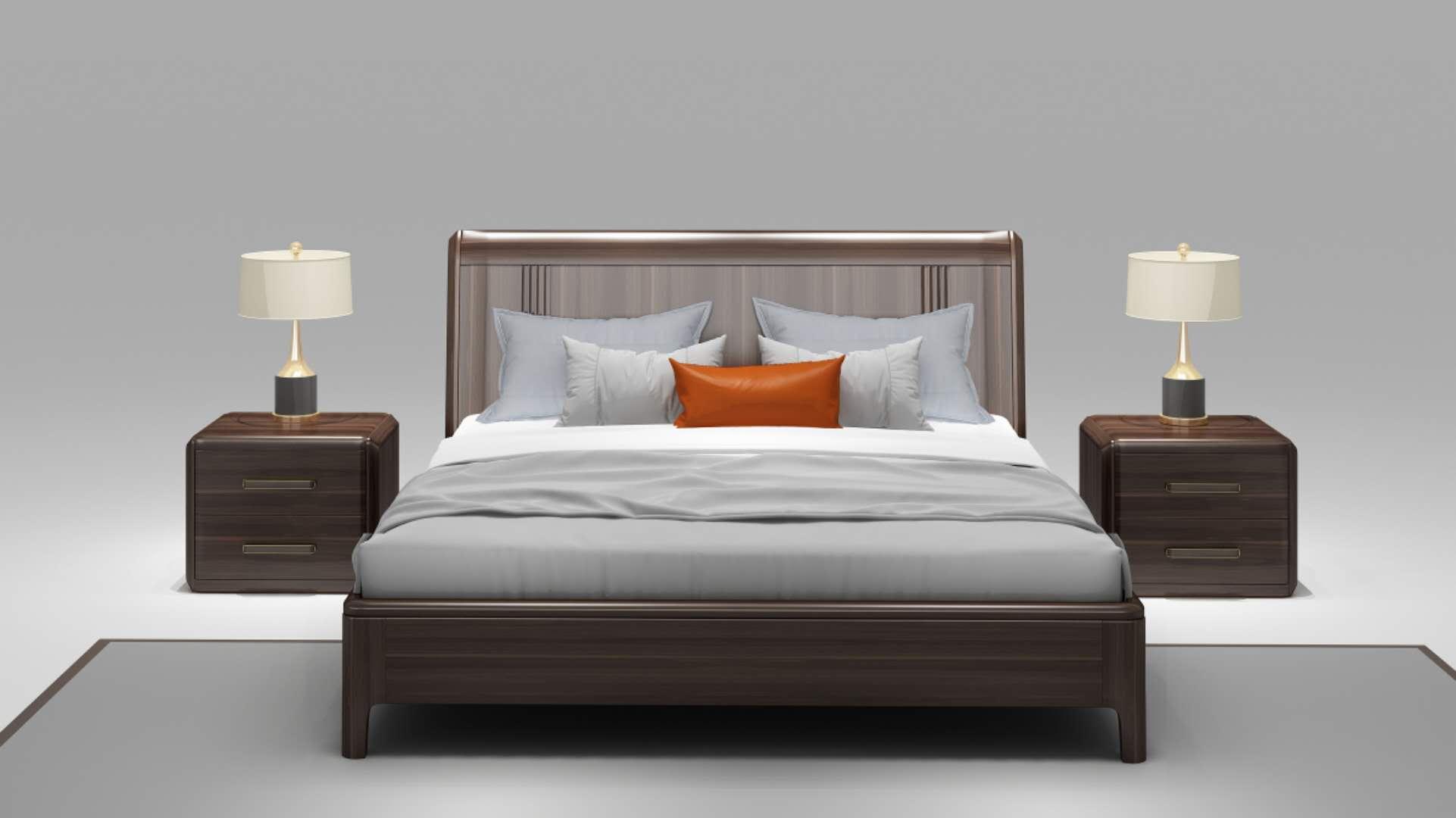 乌金木现代简约----床系列
