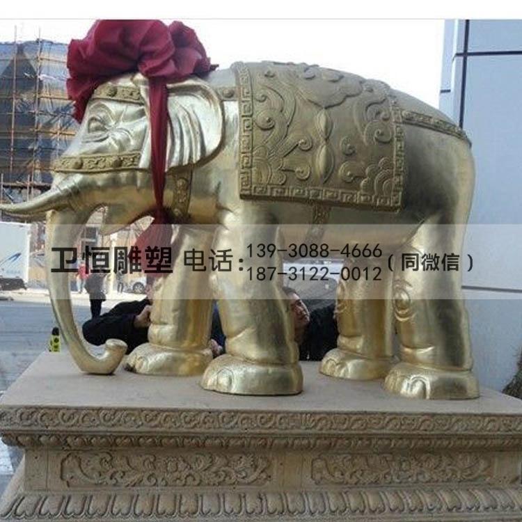 招财铜大象