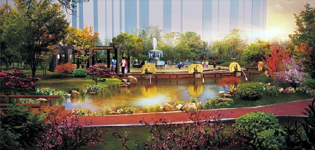 濮阳华清御园居住区景观