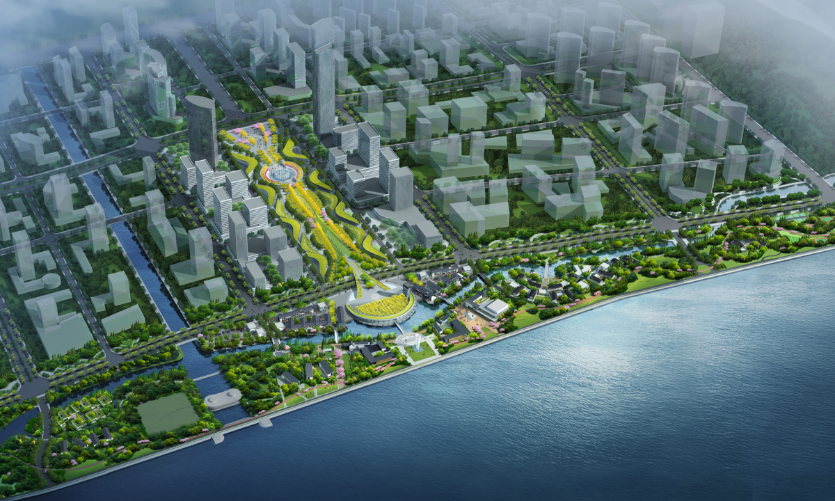 钱江世纪城安全生态带(沿江景观带)