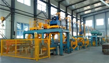 全自動機械化鐵型覆砂鑄造生產線