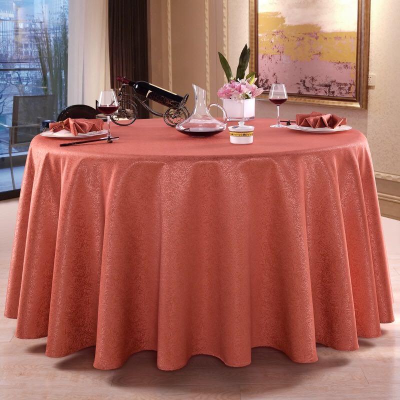 君芝友酒店專用桌布大圓桌餐桌臺布餐廳飯店圓形宴會臺布布藝JZY-TB-062