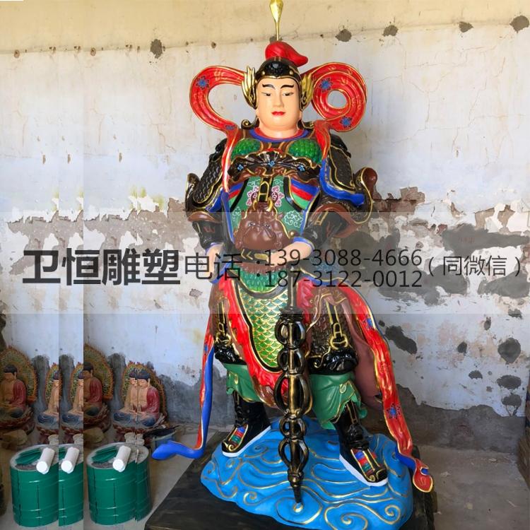 铸铜韦陀雕像