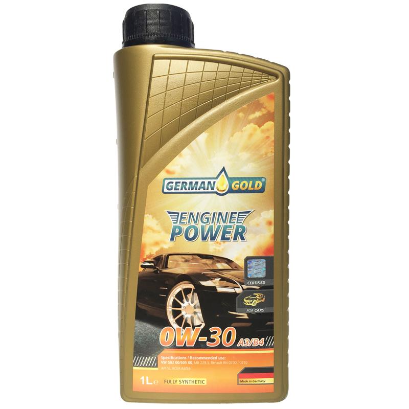 德国金牌引擎动力 全合成润滑油 0W-30 A3/B4 1L 德国原瓶原装进口机油