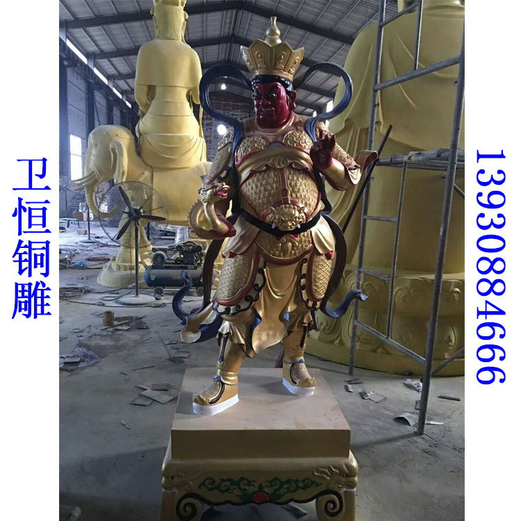 彩绘四大天王