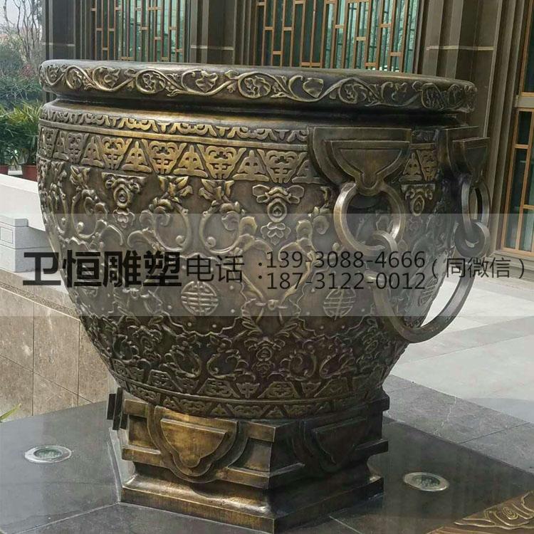 带底座铜大缸