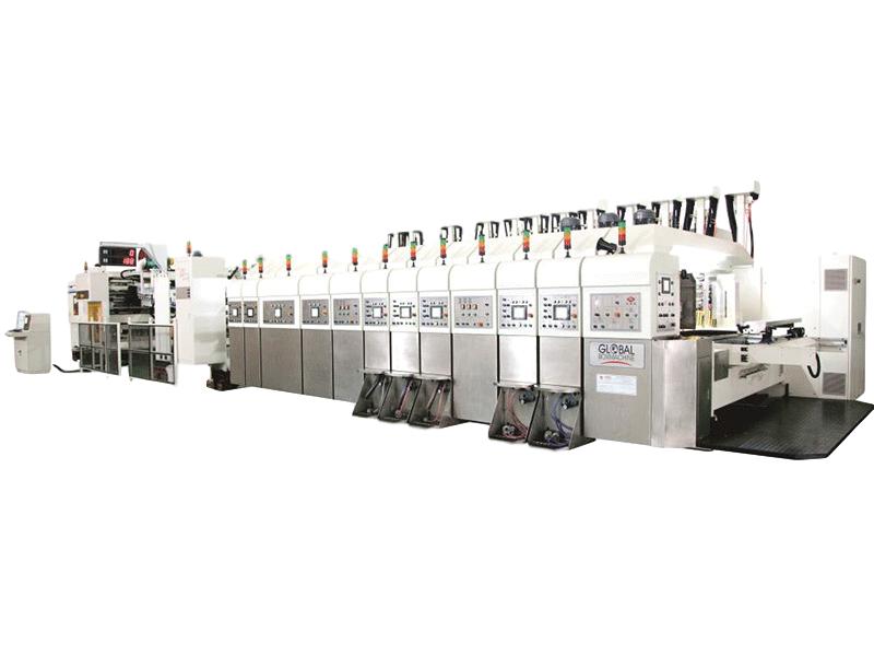 KL-型移動式自動印刷開槽模切折疊粘箱聯動線(上印下折式,上下印下折式)