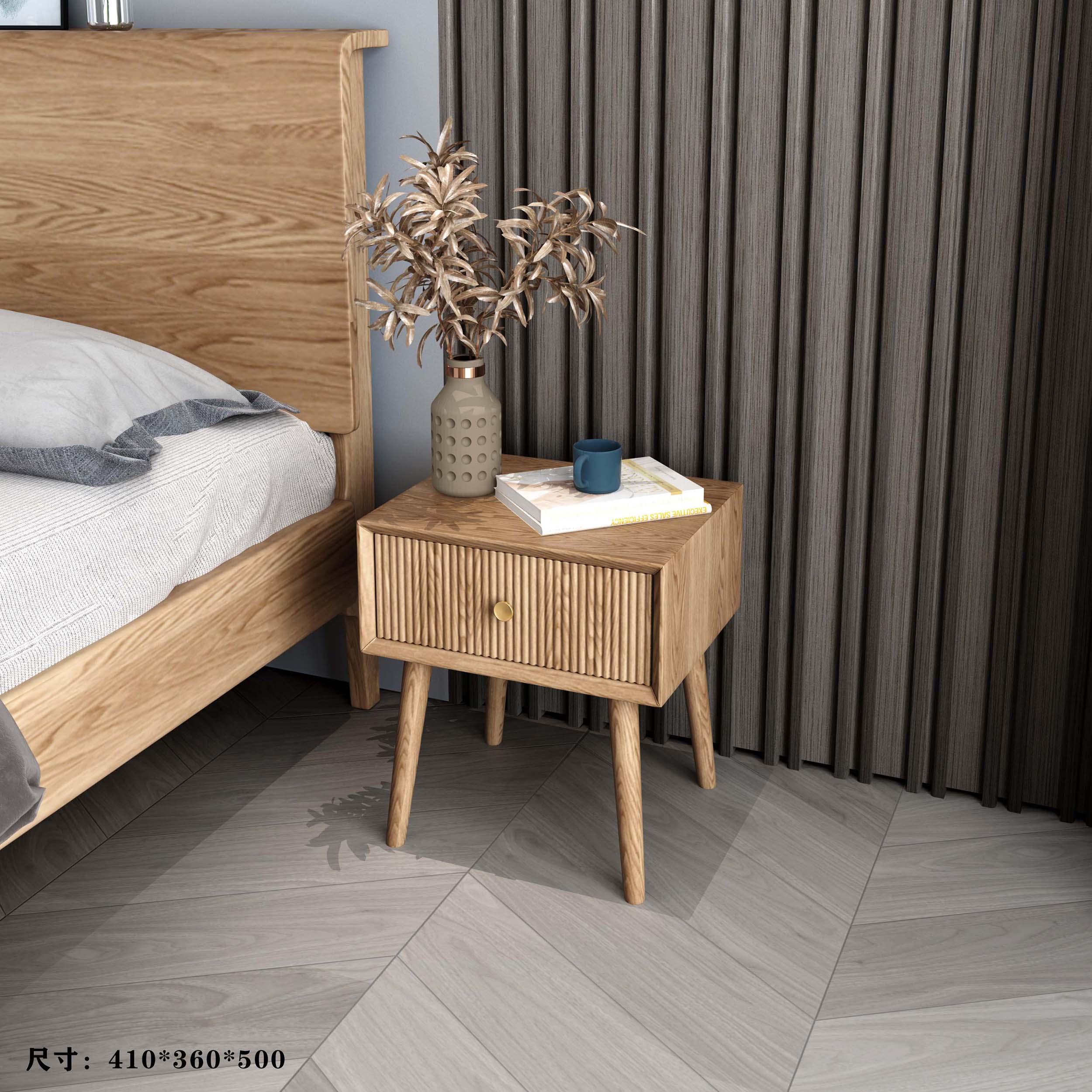白蜡木诧寂系列---床头柜