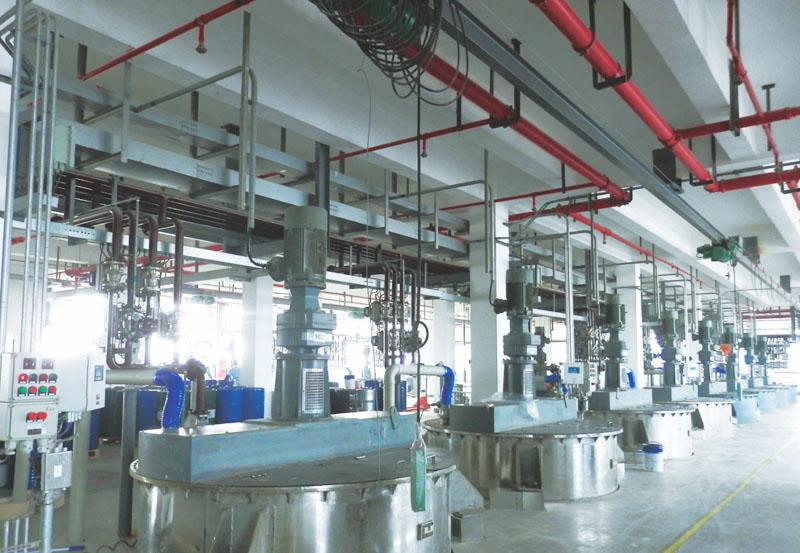 紫荊花涂料(上海)有限公司設備工程