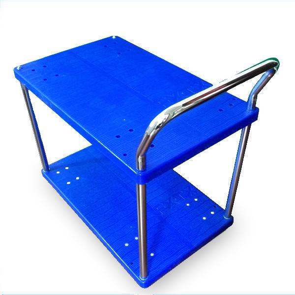 靜音尼龍餐車(小號)雙層單扶手FX-2006-5D