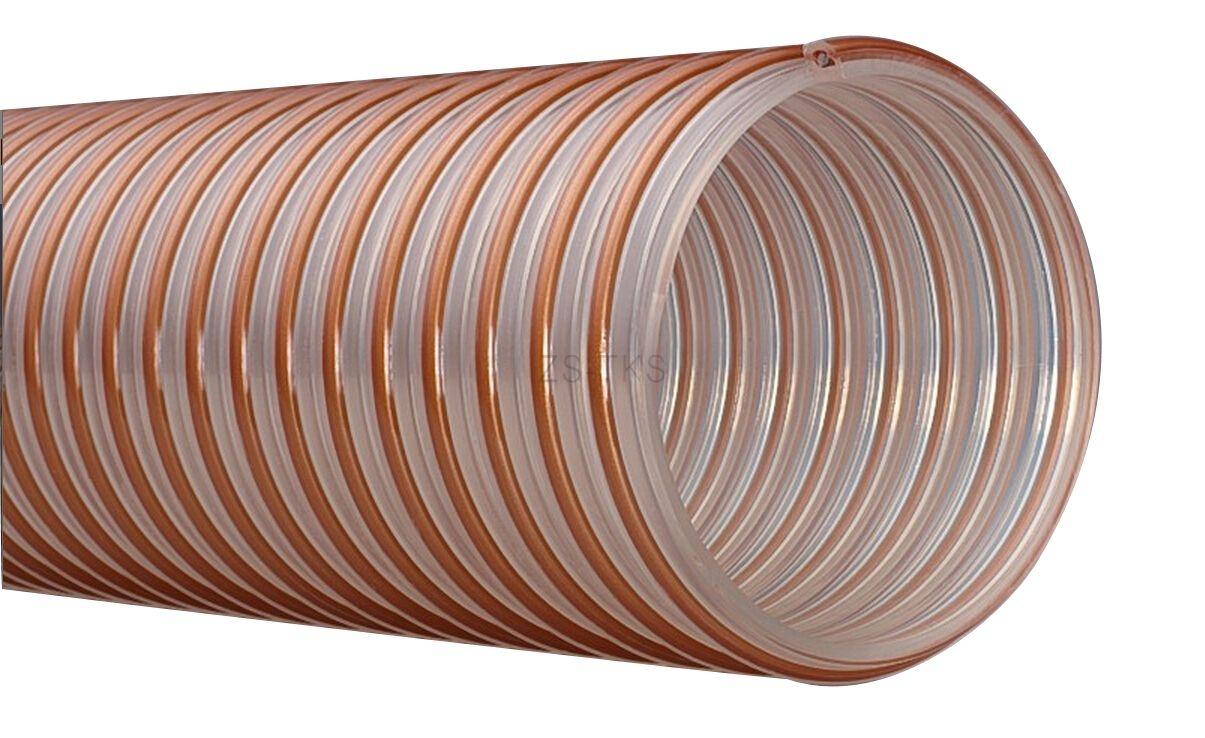 顆粒物質耐磨PU軟管-包塑螺旋鋼絲PU管-PUP