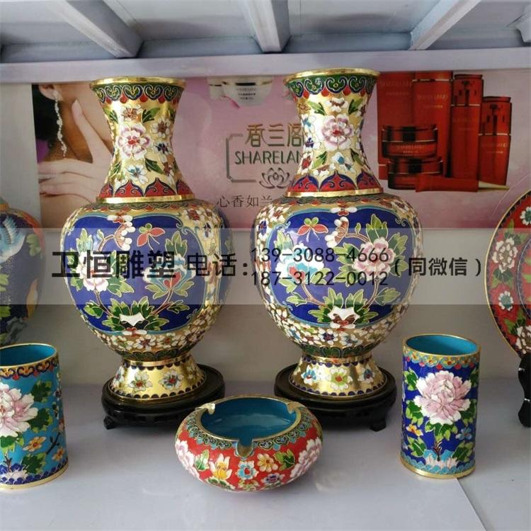 铜花瓶-纯铜花瓶-景泰蓝铜花瓶