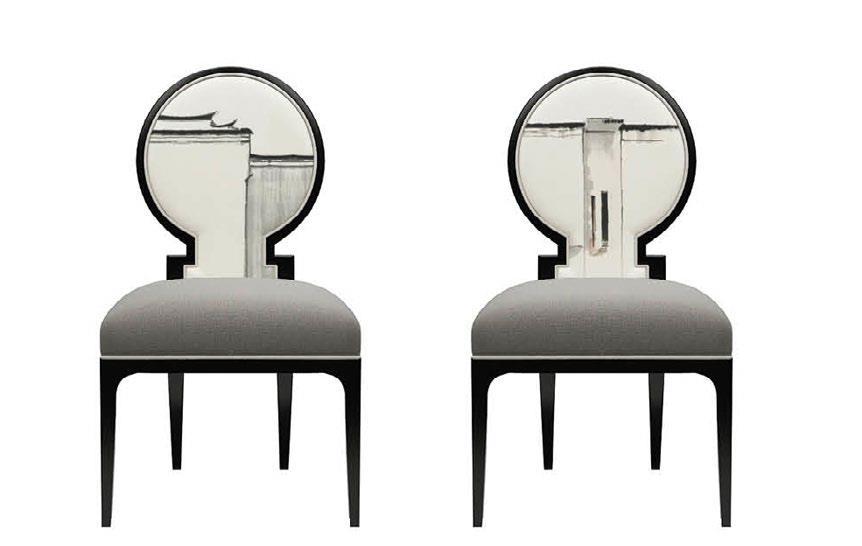 君芝友酒店家具 中式休闲椅子 创意家具餐椅 酒店椅子新中式家用餐椅