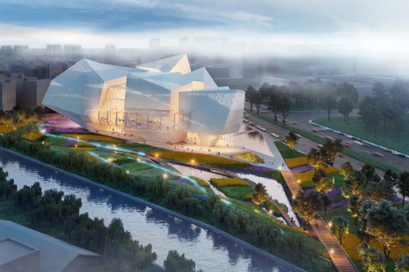 成都自然博物館主體結構完工