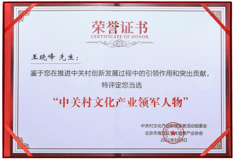 嗨赖文化董事长王晓峰荣膺