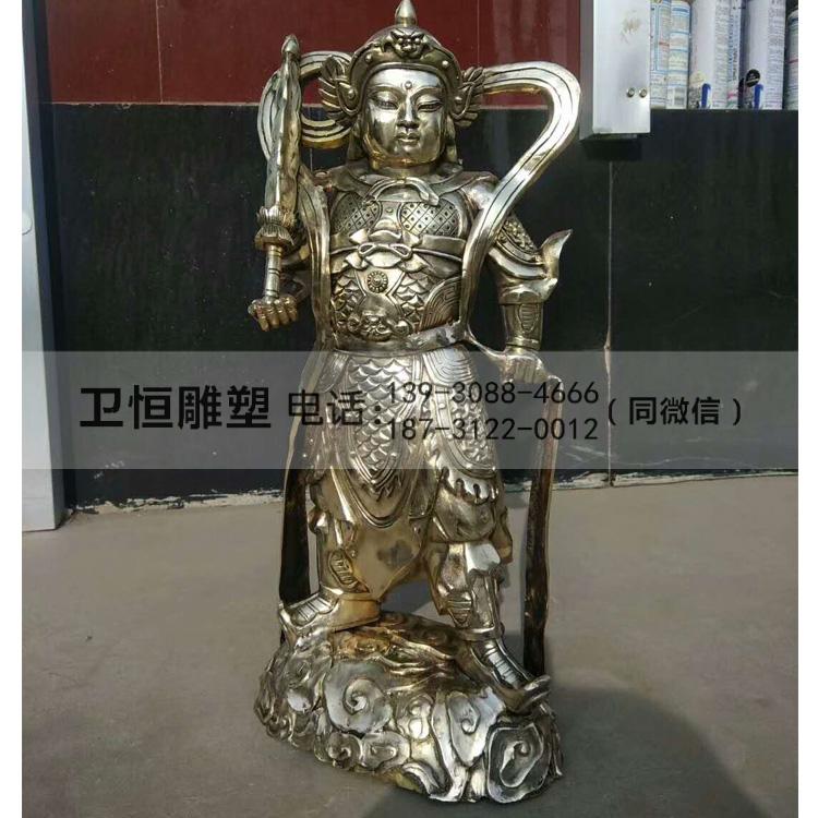 纯铜韦陀雕塑