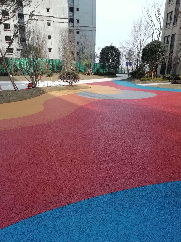 彩色透水混凝土藝術地面/重慶銅梁澤京愛尚里