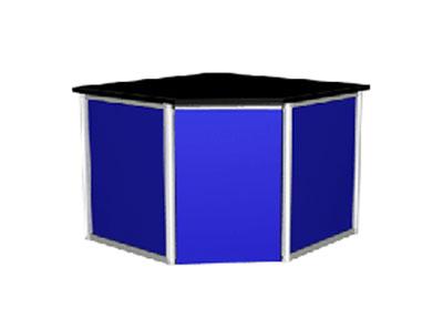 铝木结构角台