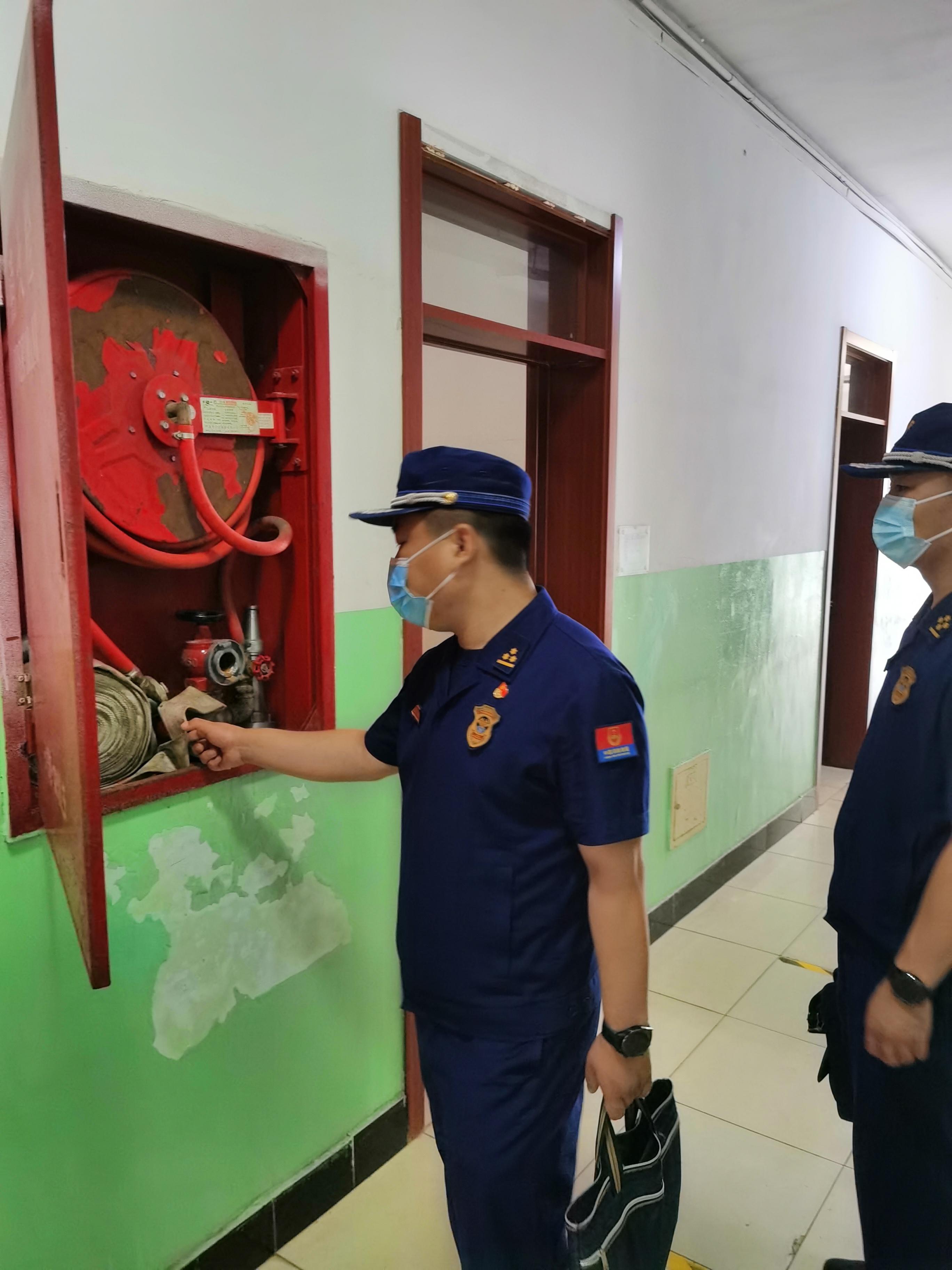 北京市房山区消防支队领导对我校消防安全工作进行检查指导