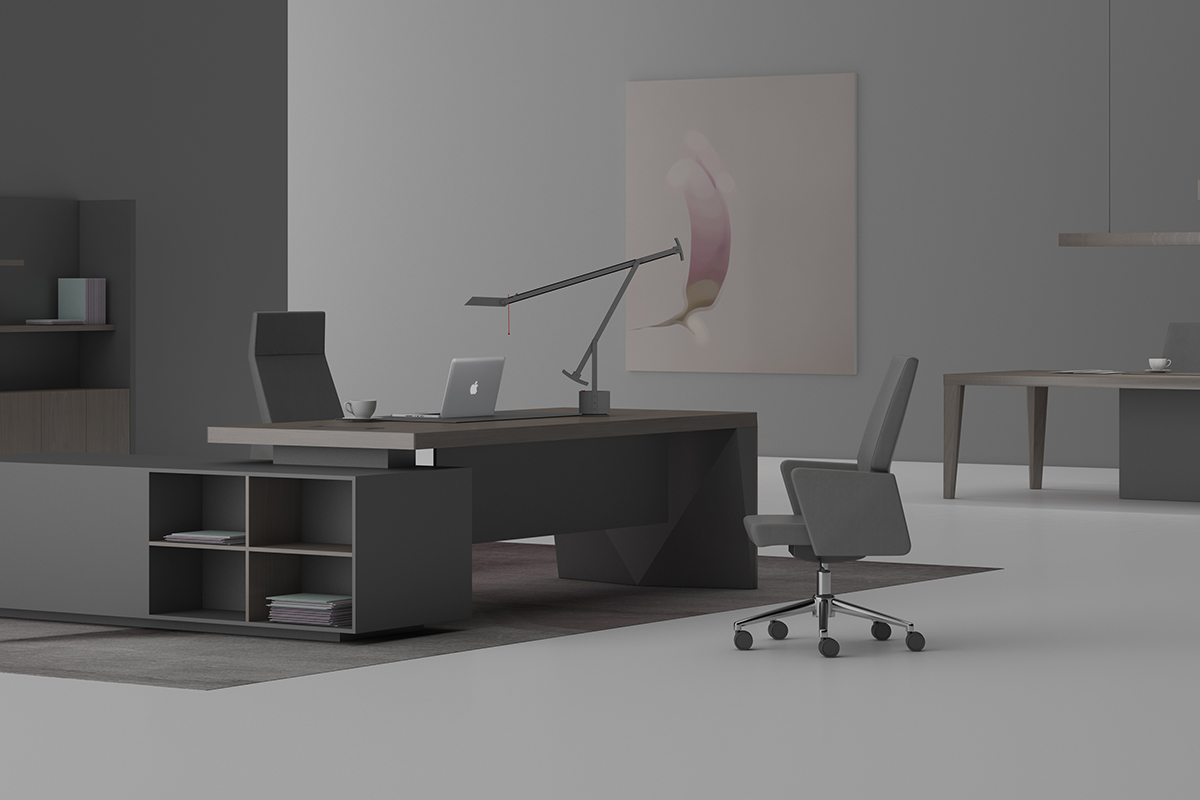 班臺會議桌空間