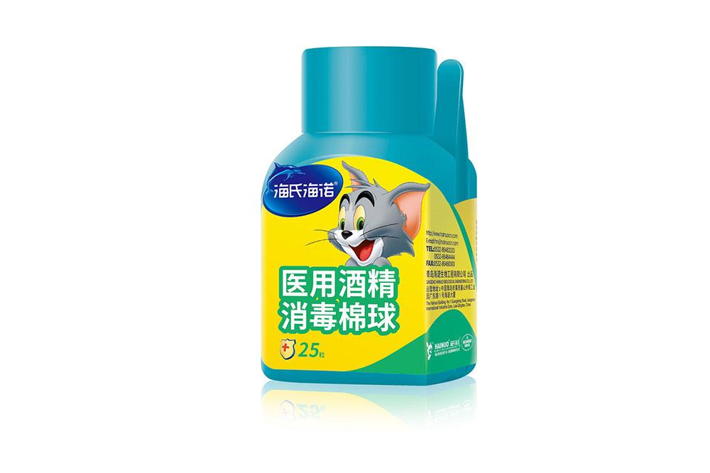 医用酒精消毒棉球(简装)25粒