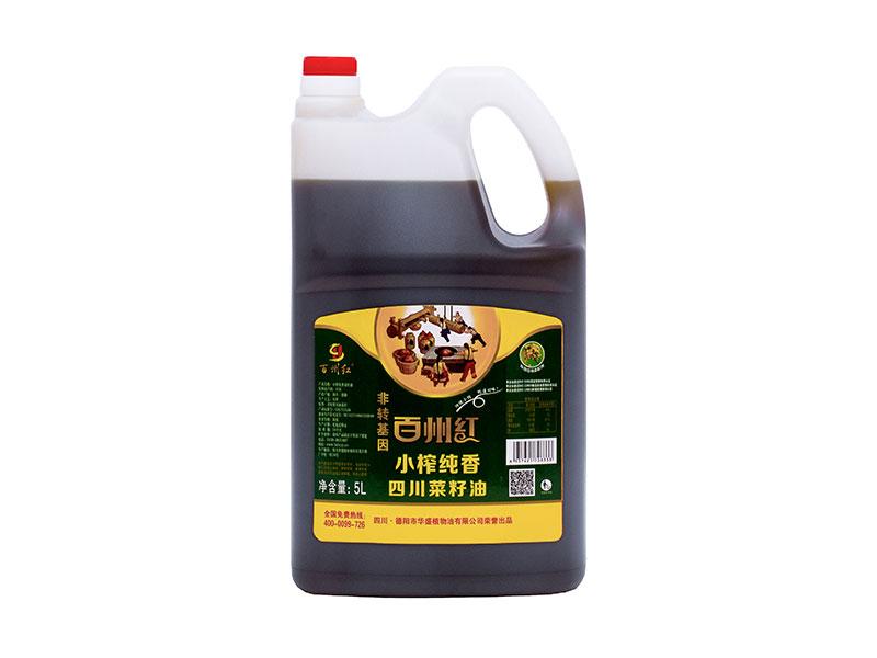 小榨純香四川菜籽油5L