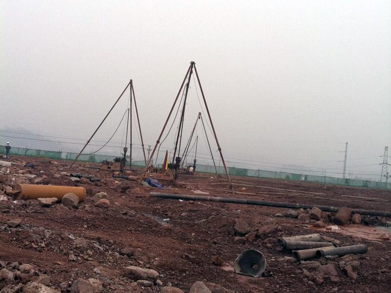 理縣人武部災后恢復重建工程辦公樓之獨立樁基施工