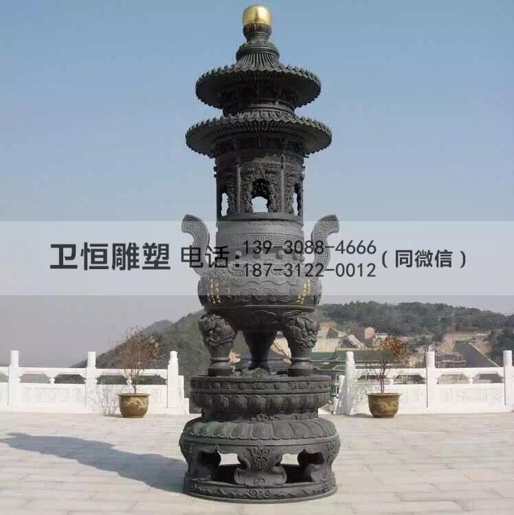 寺庙铜香炉