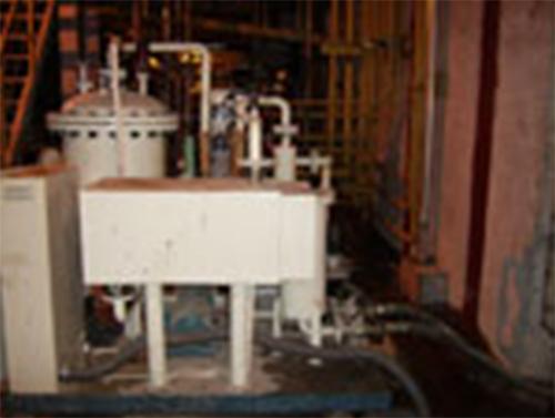 新余鋼廠濾油現場
