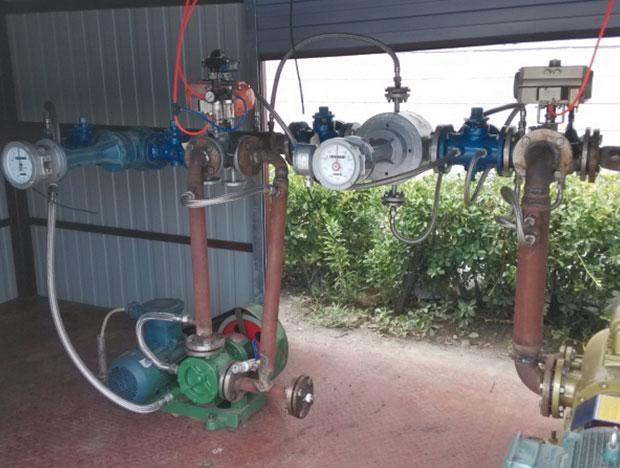 瀝青設備專用流量計使用現場