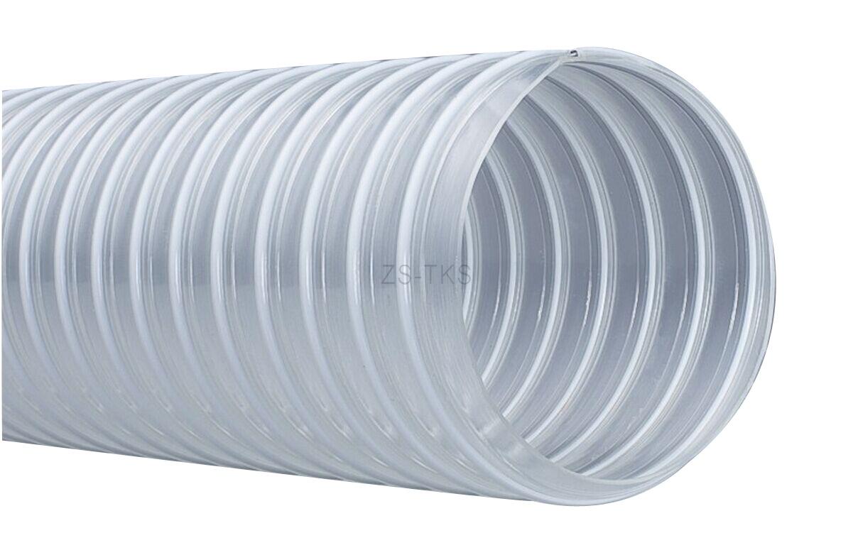 顆粒物質耐磨PU軟管-包塑鋼絲PU管-VK