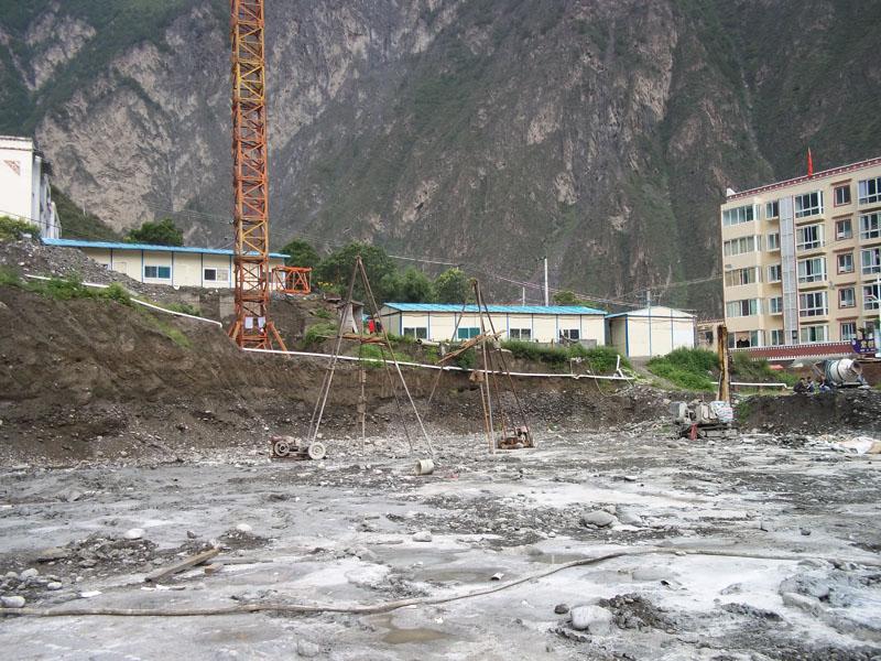 理縣政務中心辦公樓旋噴樁復合地基處理工程