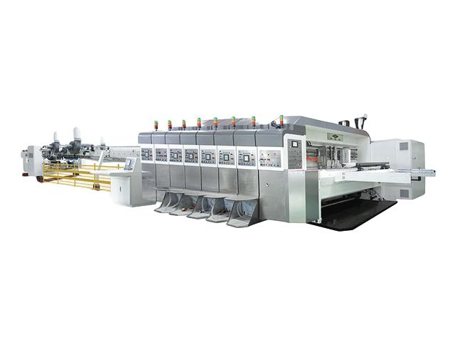 KL-型移動式自動印刷開槽模切折疊粘箱聯動線(下印上折式:齒輪傳動 伺服驅動)
