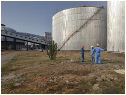 鄂爾多斯煤化工污水罐清洗