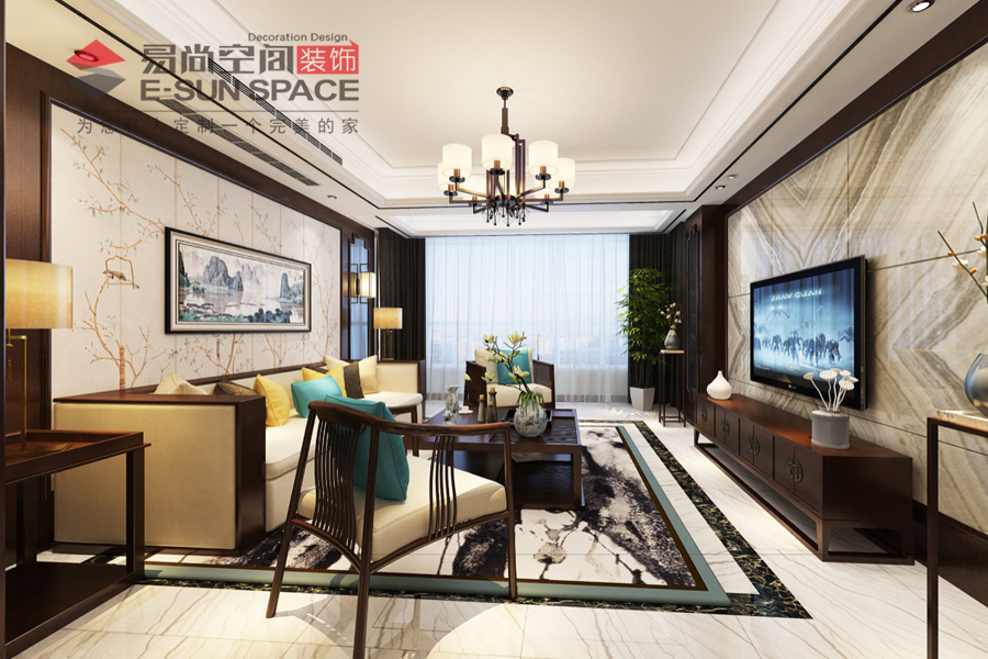 蘇中尚城5號樓--新中式風格