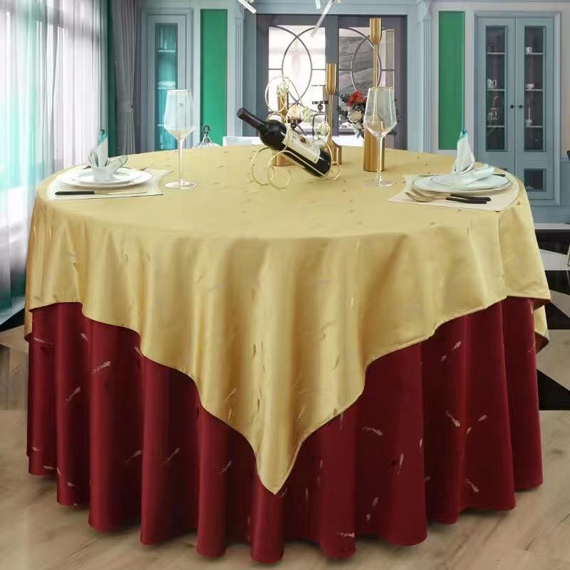 君芝友酒店專用桌布大圓桌餐桌臺布餐廳飯店圓形宴會臺布布藝JZY-TB-061