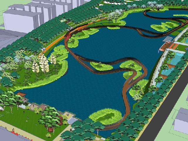 池州市海绵城市示范项目护城河遗址公园景观设计