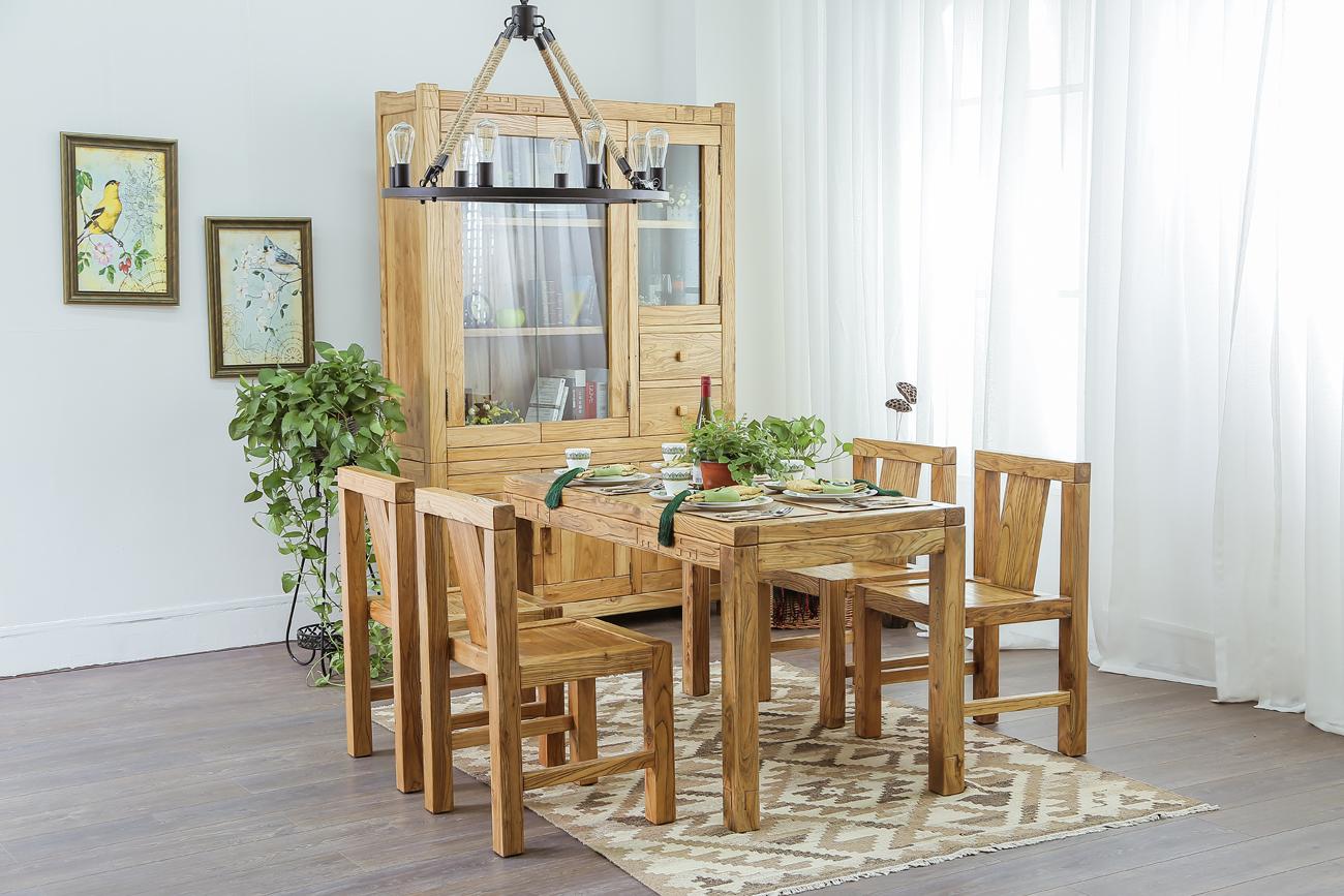 老榆木榫卯---餐厅