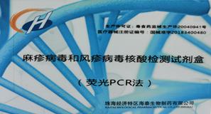 麻疹病毒和風疹病毒核酸檢測試劑盒(熒光PCR法)
