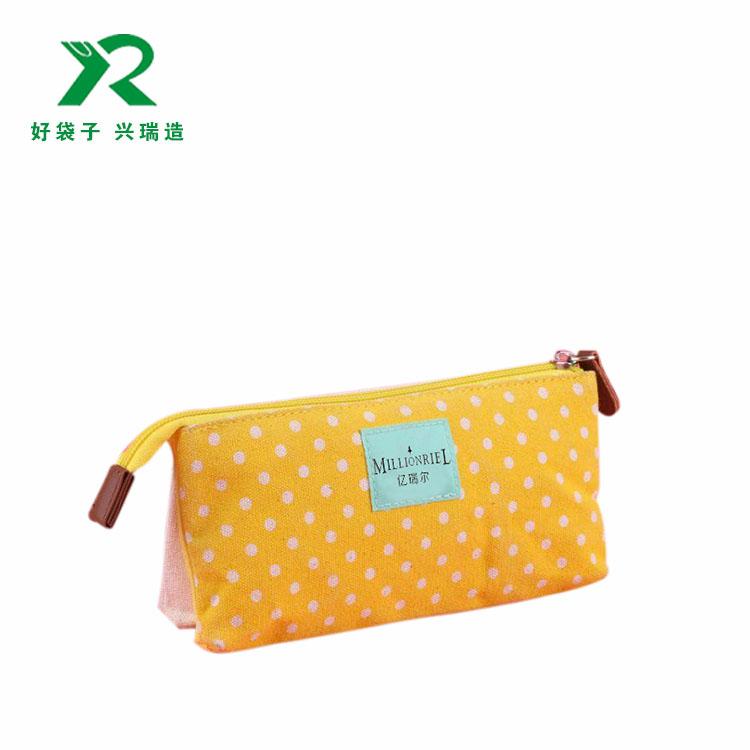 簡約創意帆布筆袋韓國小清新學生拉鏈鉛筆袋大容量文具袋