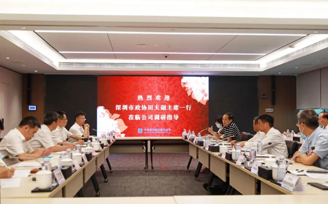深圳市政協副主席田夫一行蒞臨中建深裝考察指導