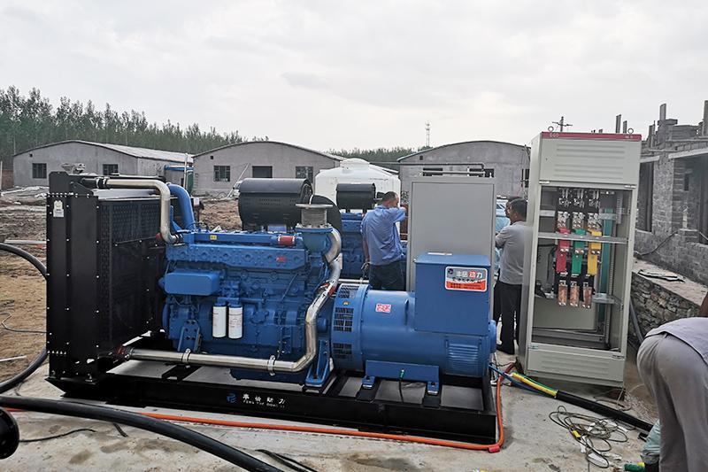 臺玉柴柴油發電機組發往高唐縣、大型養殖場備用電源