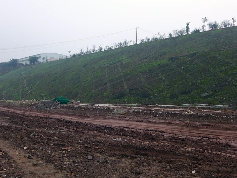 重慶市現代農業開發園區獅干山道路邊坡整治工程施工